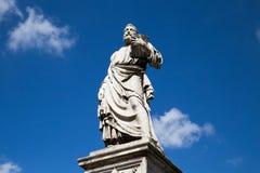 Sculpture en pont d'ange de saint Photographie stock