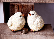 Sculpture en poupée de poulet Photo stock