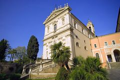 Sculpture en Roman Catholicism d'architecture de Rome Photo libre de droits