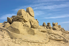 Sculpture en sable Images stock