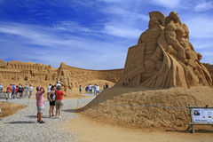 Sculpture en sable Photos libres de droits