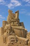 Sculpture en sable Photo libre de droits