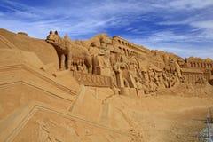Sculpture en sable Images libres de droits