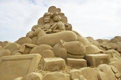 Sculpture en sable Photos stock