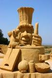 Sculpture en sable de film de Ratatouille Photographie stock libre de droits