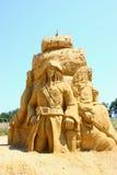 Sculpture en sable de Jack Sparrow Photos stock