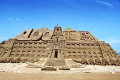 Sculpture en sable de maison de président de Taiwan Images libres de droits