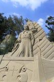 Sculpture en sable de navigateur chinois Zheng He Images stock
