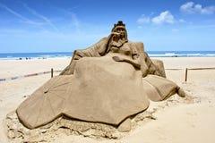 Sculpture en sable de reine Images libres de droits
