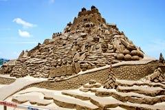 Sculpture en sable de Roma Photo stock