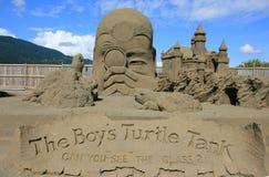 Sculpture en sable - première place Image stock