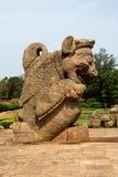 Sculpture en Simha-Gaja, Konark image stock