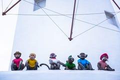 Sculpture en singes Photo stock