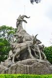 sculpture en Site-Cinq-RAM (avant) photographie stock libre de droits