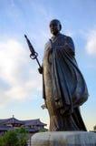 Sculpture en statue de moine de place de Dayan Tanane Images libres de droits