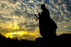 Sculpture en statue de moine de place de Dayan Tanane Photographie stock