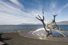 Sculpture en The Sun Voyager image libre de droits