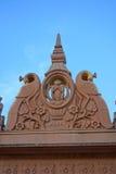 Sculpture en temple de singe Images libres de droits