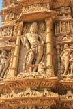 Sculpture en temple de Sun, Modhera, Inde Photos libres de droits