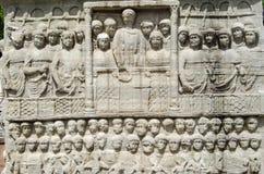 Sculpture en Theodosius d'empereur, Istanbul Photographie stock libre de droits