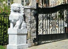 Sculpture en Thornhill d'un lion 2010 Images stock