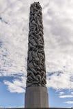 Sculpture en Vigeland en parc de Frogner à Oslo Images libres de droits