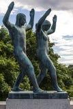 Sculpture en Vigeland en parc de Frogner à Oslo Images stock