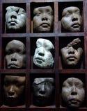 Sculpture en visage Photographie stock libre de droits