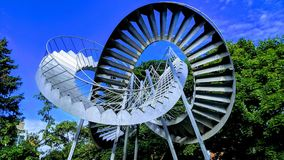Sculpture of an endless staircase royalty free stock photo