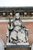 Sculpture of the entrance of the cemetery of Rome Royalty Free Stock Images