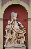 Sculpture at the entrance royalty free stock photography