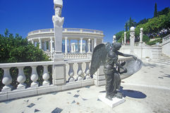 Sculpture at entrance stairs of the Hearst Castle, San Simeon, Central Coast, California Stock Image