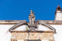 Sculpture on the entrance to Coimbra University Stock Images