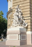 Sculpture at the entrance to Odessa Opera House. Royalty Free Stock Image
