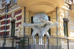 Sculpture at the entrance to Odessa. Royalty Free Stock Photos