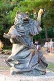 Sculpture et x22 ; Cat& instruit x22 ; sur la promenade de Gelendzhik photo stock