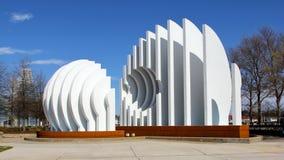 Sculpture exagérée blanche moderne Photographie stock libre de droits