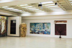 Sculpture exposition. Brancusi hall, 2012 - 2013 Royalty Free Stock Photo