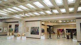 Sculpture exposition. Brancusi hall, 2012 - 2013 Stock Photo