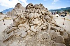 Sculpture féerique florale en sable Photos stock