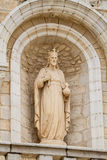 Sculpture in facade of the Catholic Wedding Church in Cana, Israel Royalty Free Stock Photography