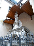 The sculpture on the facade of Latin Cathedral Royalty Free Stock Images