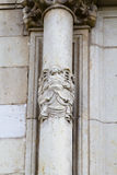 Sculpture, facade of the University Stock Photos