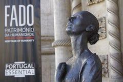 Sculpture of a Fado dancer Stock Photo