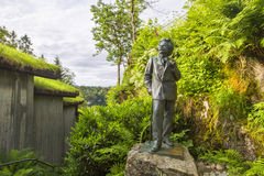 The sculpture of the famous Norwegian composer Edvard Grieg Stock Images
