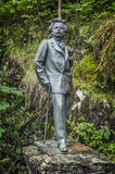 The sculpture of the famous Norwegian composer Edvard Grieg Stock Image