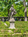 Sculpture in the famous Residence palace rose garden in Bamberg Royalty Free Stock Photos