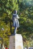 Sculpture of famous russian poet Mikhail Lermontov Stock Images