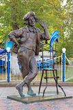 Sculpture of the famous Soviet and Russian clown Oleg Popov in Tyumen Royalty Free Stock Photos