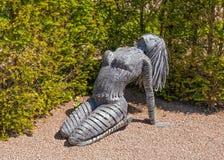 Sculpture femelle en métal, Hampton Court, Herefordshire, Angleterre Image libre de droits